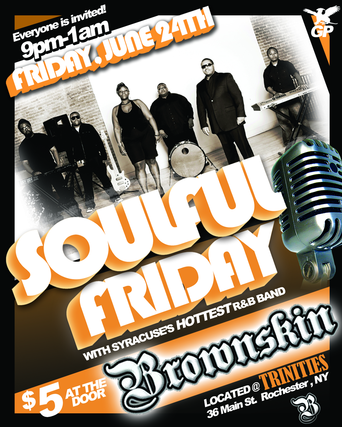 brownskin band soulful friday flyer – Griffin Productions