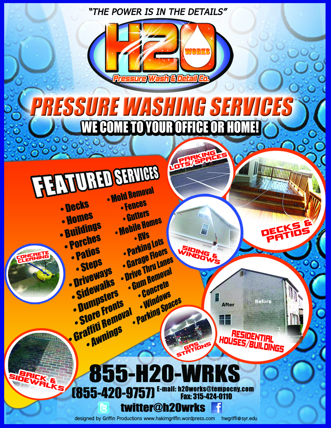 H20 Works Pressure Washing And Detail Co Branding