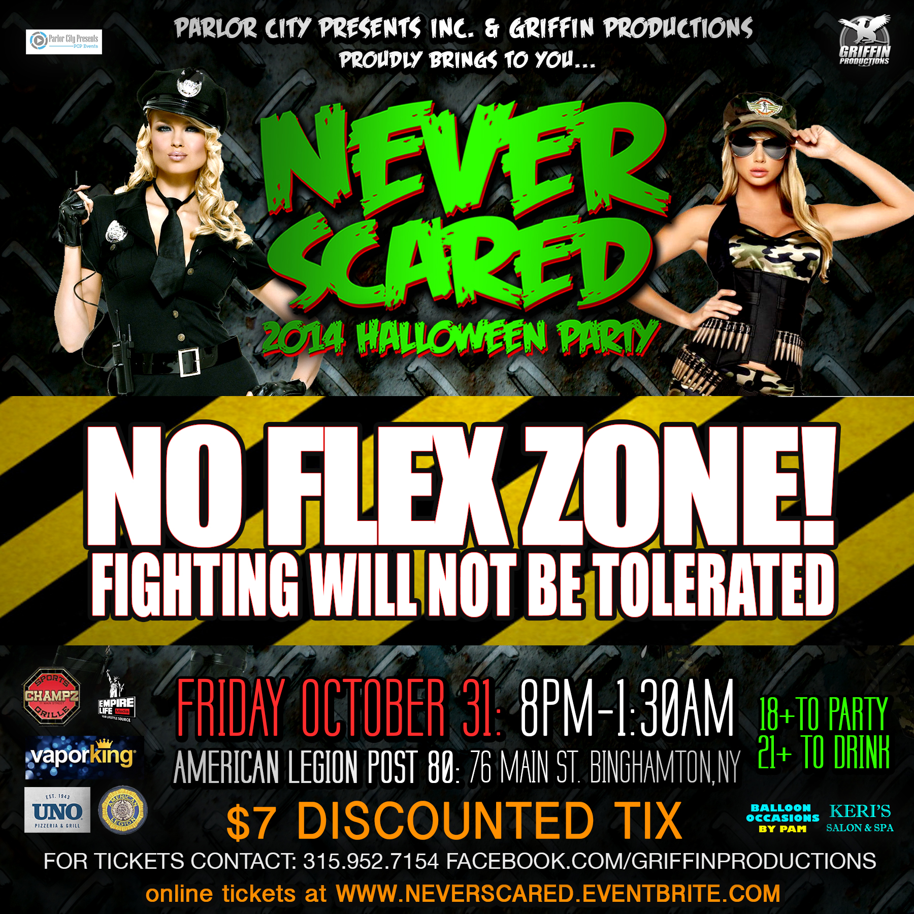 Promotional Design for 2014 Never Scared Halloween Party – Griffin ...