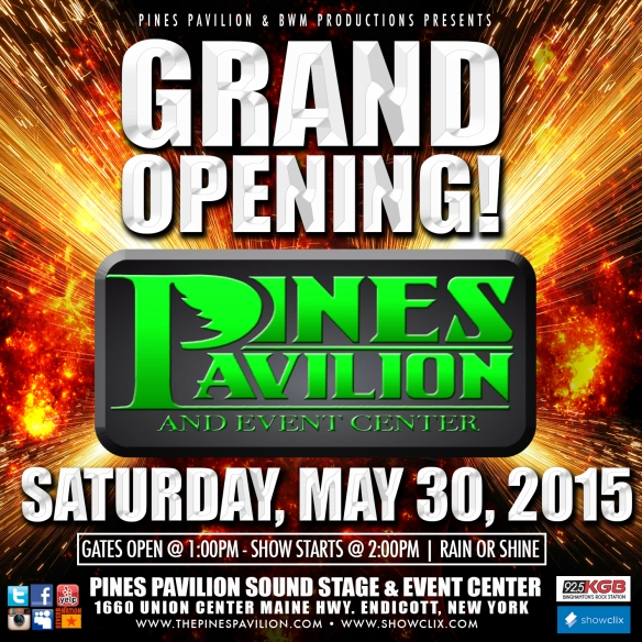 pines pavilion grand opening instagram design